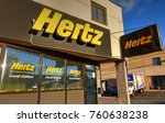 hdr image  hertz rental car... | Shutterstock . vector #760638238