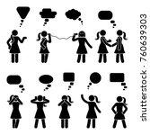 stick figure dialog speech... | Shutterstock .eps vector #760639303