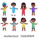 african children boys and girls ... | Shutterstock . vector #760639849