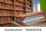 files on table infront of... | Shutterstock . vector #760640356