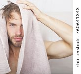 young naked sexual man posing... | Shutterstock . vector #760641343