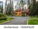 big custom made luxury house... | Shutterstock . vector #760643620
