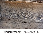 front view of old grey wood... | Shutterstock . vector #760649518