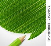 pencil with speech bubble...   Shutterstock .eps vector #76064971