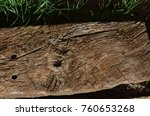 rusted wood and tips | Shutterstock . vector #760653268