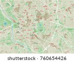 vector city map of madrid with... | Shutterstock .eps vector #760654426