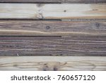 old wooden board with a... | Shutterstock . vector #760657120