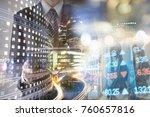 finance  banking concept. euro... | Shutterstock . vector #760657816