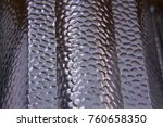 aluminium texture  background... | Shutterstock . vector #760658350