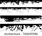 grunge edges vector set .... | Shutterstock .eps vector #760659586