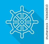 ship steering wheel icon in... | Shutterstock .eps vector #760660810