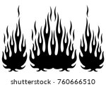 tribal hotrod muscle car... | Shutterstock .eps vector #760666510