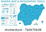 nigeria   map   detailed info... | Shutterstock .eps vector #760670638