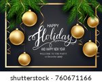 holidays greeting card for... | Shutterstock .eps vector #760671166