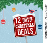 12 days of christmas deals... | Shutterstock .eps vector #760673839