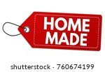 home made label or price tag on ... | Shutterstock .eps vector #760674199