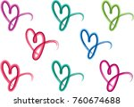 heart shape vector design set | Shutterstock .eps vector #760674688