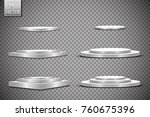 round stage podium isolated on... | Shutterstock .eps vector #760675396