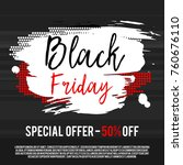 black friday sale poster on a... | Shutterstock .eps vector #760676110