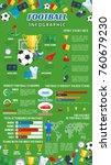 football or soccer infographic... | Shutterstock .eps vector #760679230