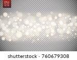christmas shining bokeh...   Shutterstock .eps vector #760679308