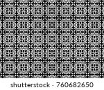 ornament with elements of black ...   Shutterstock . vector #760682650