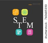stem education. science ... | Shutterstock .eps vector #760685350