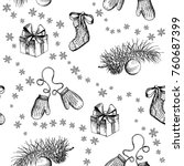 christmas pattern seamless ... | Shutterstock .eps vector #760687399