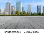 empty pavement and modern... | Shutterstock . vector #760691353