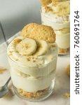 sweet homemade banana pudding... | Shutterstock . vector #760691764