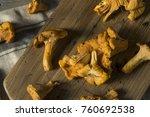 raw orange organic chanterelle... | Shutterstock . vector #760692538