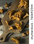 raw orange organic chanterelle... | Shutterstock . vector #760692544