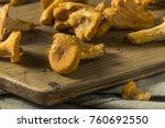 raw orange organic chanterelle... | Shutterstock . vector #760692550