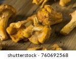 raw orange organic chanterelle... | Shutterstock . vector #760692568