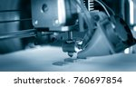 electronic three dimensional... | Shutterstock . vector #760697854