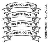 coffee shop  organic coffee... | Shutterstock .eps vector #760697866