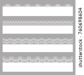 lace borders. set of white... | Shutterstock .eps vector #760698604