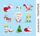 christmas  santa claus set.... | Shutterstock .eps vector #760699048