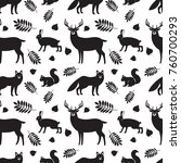 seamless pattern of black... | Shutterstock .eps vector #760700293