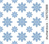 snowflake pattern seamless.... | Shutterstock .eps vector #760702888