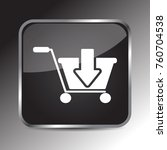 add to cart icon 3d. internet... | Shutterstock .eps vector #760704538