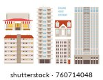 city buildings colorful vector... | Shutterstock .eps vector #760714048