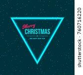christmas dark blue background... | Shutterstock .eps vector #760716220