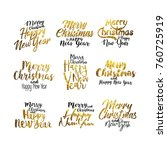 merry christmas and happy new...   Shutterstock .eps vector #760725919