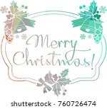 christmas label with silhouette ...   Shutterstock .eps vector #760726474