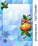 christmas  holiday background...   Shutterstock .eps vector #760726480
