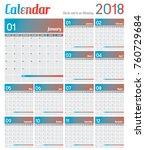 2017 calendar planner design  ... | Shutterstock .eps vector #760729684