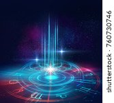 astrology and spirituality... | Shutterstock . vector #760730746