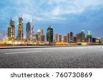 empty asphalt road and modern... | Shutterstock . vector #760730869