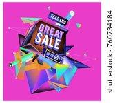vector abstract 3d great sale... | Shutterstock .eps vector #760734184